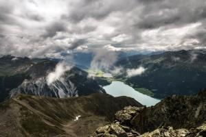 Vom Reschensee ins Vinschgau Aufgenommen auf der Plamorder Spitze (2982 m)