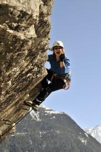 "Überhang vom "" Lehner-Wasserfall""-Klettersteig (D/E)"